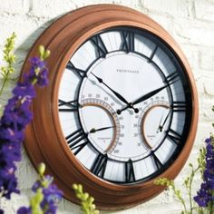 Oxford Outdoor Clock with Thermometer $99 on sale at Frontgate