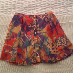 Show Me Your Mumu Skirt Size S Adorable button front printed skirt from Show Me Your Mumu. Worn twice. Show Me Your MuMu Skirts Mini