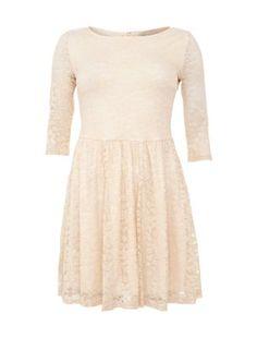 Cameo Rose Cream Lace Skater Dress