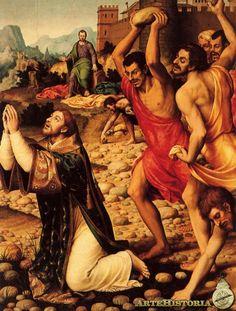 Martirio de San Esteban, Autor: Juan de Juanes Fecha: 1560/65 Museo: Museo del Prado Características: 160 x 123 cm.
