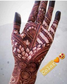 Henna Design By Fatima Pretty Henna Designs, Basic Mehndi Designs, Floral Henna Designs, Henna Art Designs, Mehndi Designs 2018, Mehndi Designs For Girls, Wedding Mehndi Designs, Beautiful Mehndi Design, Khafif Mehndi Design
