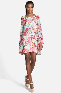 Floral Print Swing Dress | Nordstrom