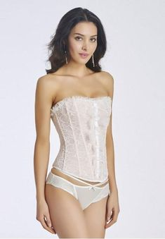 62410bbb931 Bridal Lace Strapless Corset Top