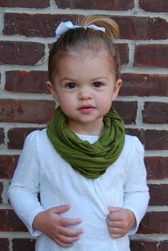 Infinity scarf for toddlers.