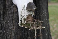 Fairy house Entrance built into stump - florence griswold museum