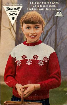 Christmas Knitting, Christmas Sweaters, White Christmas, Vintage Christmas, Wooly Jumper, Snow Flake, Vintage Knitting, Vintage Children, Jumpers