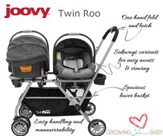 Joovy twin roo Where was this when my twins were born. It's so much shorter than the double snap and go.