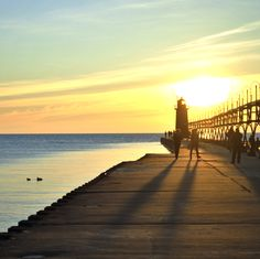 A sunset in South Haven from @Chriscrandall32