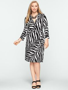 Talbots - Zebra-Print Shirtdress • Such a great piece, very flattering and hugs your curves