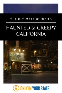 Discover the creepiest, scariest places in California including haunted houses, trails, corn mazes, and more. You'll even learn about a spooky ghost ship. Scary Haunted House, Creepy Houses, Haunted Hotel, Most Haunted, Places In California, Central California, Southern California, Spooky Places, Haunted Places