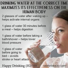 The importance of water, and when