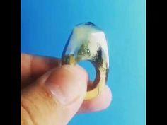 Wood Resin Secret Ring - YouTube