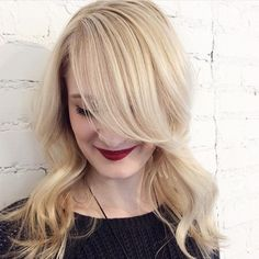 This bright, pale blonde is so springy and pretty. Work by stylist Naomi of Juut Salonspa. #AvedaColor formula in comments.
