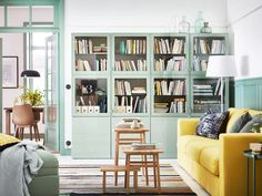 8 Small-Space Living Room Layout Ideas We're Stealing from IKEA – Living Room Inspiration – Living Room Ideas Small Living Room Layout, Small Space Living Room, Ikea Living Room, Small Apartment Living, Living Room Cabinets, Living Room Furniture Layout, Living Room Storage, Living Room Designs, Apartment Furniture