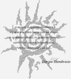 Giorgio Dambrosio: Impara a stare bene.