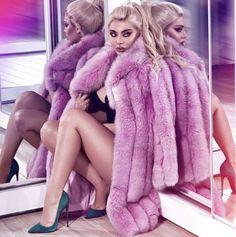Long Fur Coat, Fur Coats, Fur Coat Fashion, Pink Fox, Night Flowers, Fox Fur, Sexy Women, Long Hair Styles, Womens Fashion
