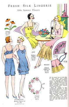 """Vintage Lingerie, 1920s - """"In the great race to look like slim young trees - there must be no extra thickness given by choosing the right undies."""""""