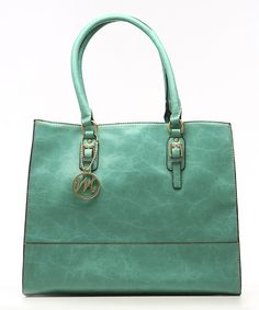 Look what I found on #zulily! emilie m. Turquoise Morgan Tote by emilie m. #zulilyfinds