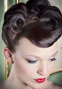 Pinup hairstyles http://www.thepinuppodcast.com shares this pinup pin because it is worthy!!