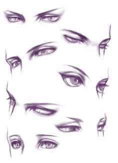 Cool manga eyes... gotta try drawing these!!! :D
