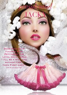 DOLLY by Le Petit Tom ® JACKY KENNEDY pettiskirt rose & fuchsia
