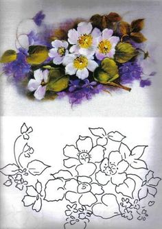 Awesome Most Popular Embroidery Patterns Ideas. Most Popular Embroidery Patterns Ideas. China Painting, Tole Painting, Fabric Painting, Painting & Drawing, Watercolor Paintings, Ribbon Embroidery, Embroidery Patterns, Pintura Country, Stained Glass Patterns