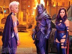 'X-Men: Apocalypse': 5 EW exclusive photos | Ororo Munroe/Storm (Alexandra Shipp), En Sabah Nur/Apocalypse (Oscar Isaac), and Betsy Braddock/Psylocke (Olivia Munn) | EW.com