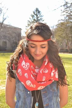 Boho Red Suede Braided Headband for Women