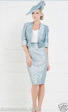 Taffeta Knee Length Mother Of The Bride Dress With Jacket Formal Party Dress