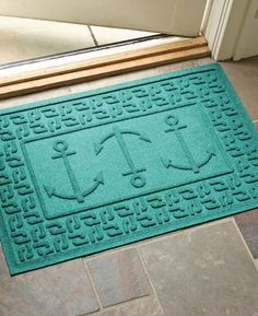 Anchor Print Doormat