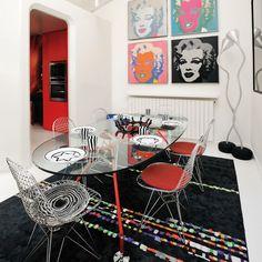 Einrichtung im Stil Pop Art – ausdrucksstark und kunstvoll - Decor Design Pop Art, Deco Design, Pop Art Decor, Decoration, Home Interior, Interior Design, Blog Deco, Home And Deco, Mid Century Furniture