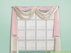 How to Drape Window Scarves. A window scarf, smartly hung, can highlight an entire room. It is like that final accessory that sets off the whole outfit. Use a window scarf to cover up a curtain rod, or install scarf hooks to hang a window. Scarf Curtains, Cool Curtains, Burlap Curtains, Window Swags, Window Coverings, Window Treatments, Living Room Drapes, Living Rooms, Swag Ideas