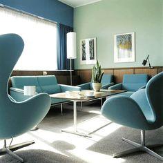 Denmark. SAS Royal Hotel Room 606, Copenhagen, 1956-1959  // designed by Arne Jacobsen