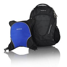 !@  Obersee Oslo Diaper Bag Backpack with Detachable Cooler, Black/Royal Blue by Obersee