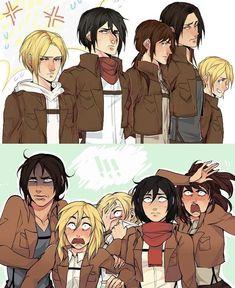 Watch Attack On Titan, Attack On Titan Comic, Attack On Titan Season, Attack On Titan Fanart, Eren E Levi, Armin, Mikasa, Levi Squad, Otaku