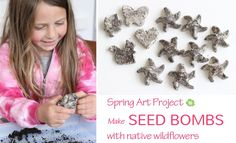Spring art project: Make seed bombs with native wildflowers - from The Art Pantry