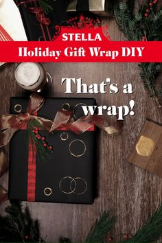 1. Pour yourself an ice cold Stella Artois to enjoy while you wrap! Ensure your bottle is empty & dry - you'll need it later. 2. Grab a pre-wrapped gift. Solid paper will work best. 3. Dip bottle base in gold paint and stamp large circle patterns on present. 4. Flip your bottle and use the rim to stamp smaller circle patterns. 5. Repeat process until you've created your desired pattern. 6. Let paint dry. 7. Add finishing touches of ribbon & greenery to complete your custom Stella Wrapping paper!
