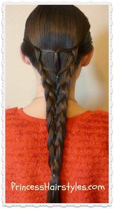 Elastic #mermaid #braid #hairstyle tutorial