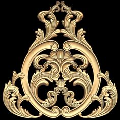 Decor Element STL model for CNC Model available on Turbo Squid, the world's leading provider of digital models for visualization, films, television, and games. Textile Pattern Design, Pattern Art, Baroque Tattoo, Baroque Decor, Baroque Design, Wedding Logo Design, 3d Cnc, Carving Designs, Ornaments Design