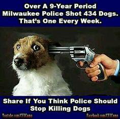Stop killing peoples pets!! #milwaukeepolice