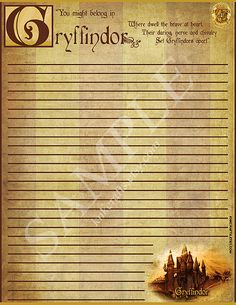 Gryffindor Represent Your House! Harry Potter Hogwarts Houses Stationery