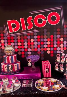Pink Disco Party via Kara's Party Ideas #disco #PinkParty #planning #idea #decorations (24)
