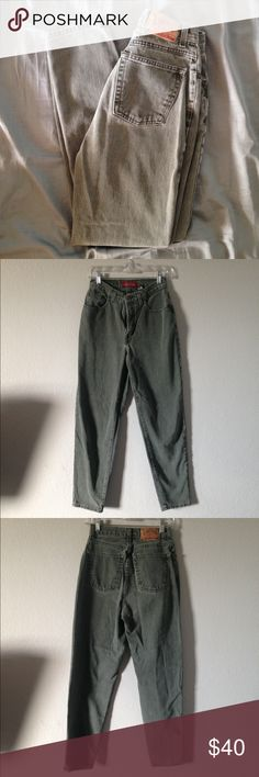 """Vintage High Waisted Limited Jeans Roll 'em up, cut 'em, distress 'em! Vintage Denim is so in and it's even better when you customize them to your own liking✨ These lovelies feature a cool, grungy, earth tone green color! Waist- 14"""" Rise-11"""" Inseam-28"""" tag says size 8, would best fit a 27/28. Vintage, not from Urban. No returns, please ask all questions before purchasing✨ Urban Outfitters Jeans Straight Leg"""