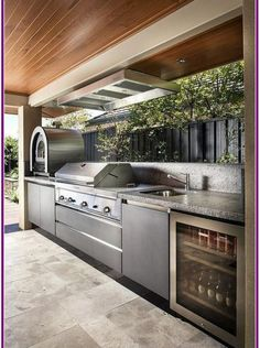 The customized outdoor kitchen contractors at Gallivan Company will certainly develop and also mount outdoor cooking areas or grill terminals from beginning to end. kitchen design 30 Outdoor Kitchen and Grill Inspiration for Any Area Modern Outdoor Kitchen, Backyard Kitchen, Outdoor Kitchen Cabinets, Summer Kitchen, Backyard Bbq, Covered Outdoor Kitchens, Small Outdoor Kitchens, Outdoor Kitchen Bars, Kitchen Contemporary