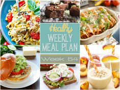 Healthy Weekly Meal Plan #54 is full of healthy dinners but also a lunch, side dish, breakfast & dessert recipe for you, too! Meal planning made easy!