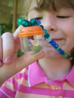 A bug catcher necklace - An idea for all my nieces, nephews (and their parents and grandparents).
