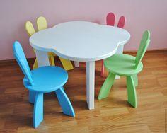 Купить Детский Столик и Стульчик Кумо То Усаги. Мебель Детская на заказ. - столик для детей
