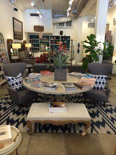 Good Reads and #chevron #rug at #Chicago #Mecox #interiordesign #MecoxGardens #furniture #shopping #home #decor #design #room #designidea #vintage #antiques #garden