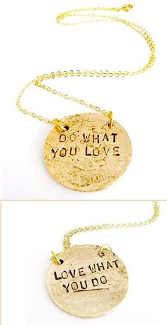Do What You Love 2-Sided Quote Necklace ♥