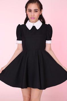 Image of Pre Order - Gothic Alice Dress Blouse Dress, Babydoll Dress, Dress Skirt, Collar Dress, Gothic Fashion, Vintage Fashion, Lolita Fashion, Goth Dress, Types Of Dresses